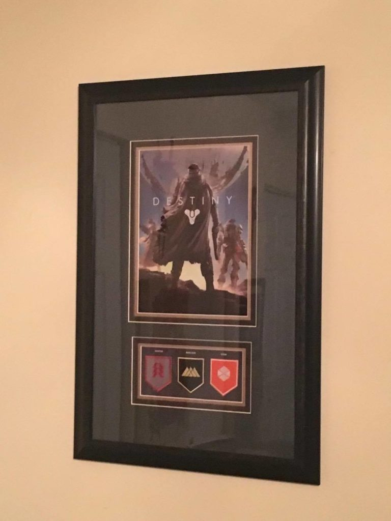 The Shared Desk Two Writers One Podcast And Various Points Of View Ninja Division Painting Cerci Speed Circuit Quick Shout Out To Kellys That Came Up With A Slick Frame For Destiny Artwork Loot Crate Patchesand Were Going Copy